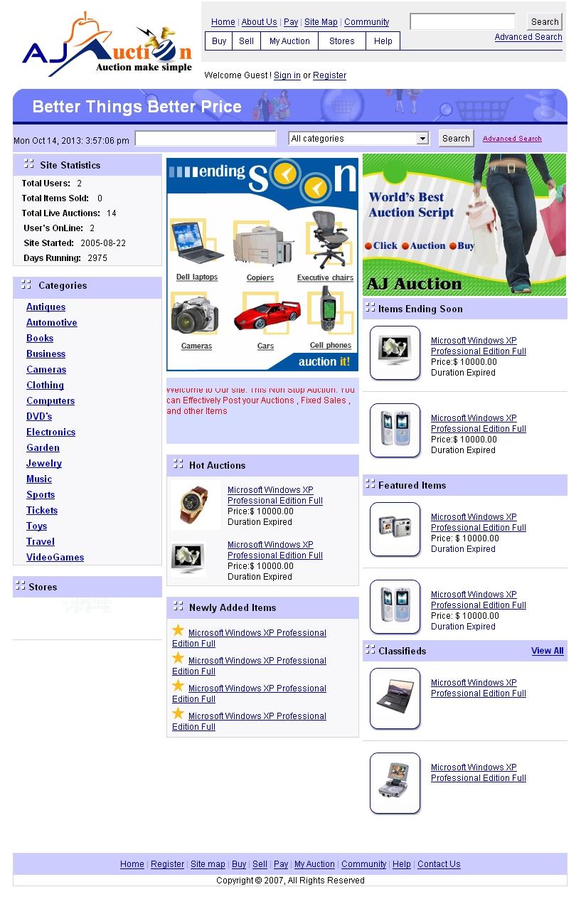 Движок сайта аукцион программа сервер для размещения сайта в интернете
